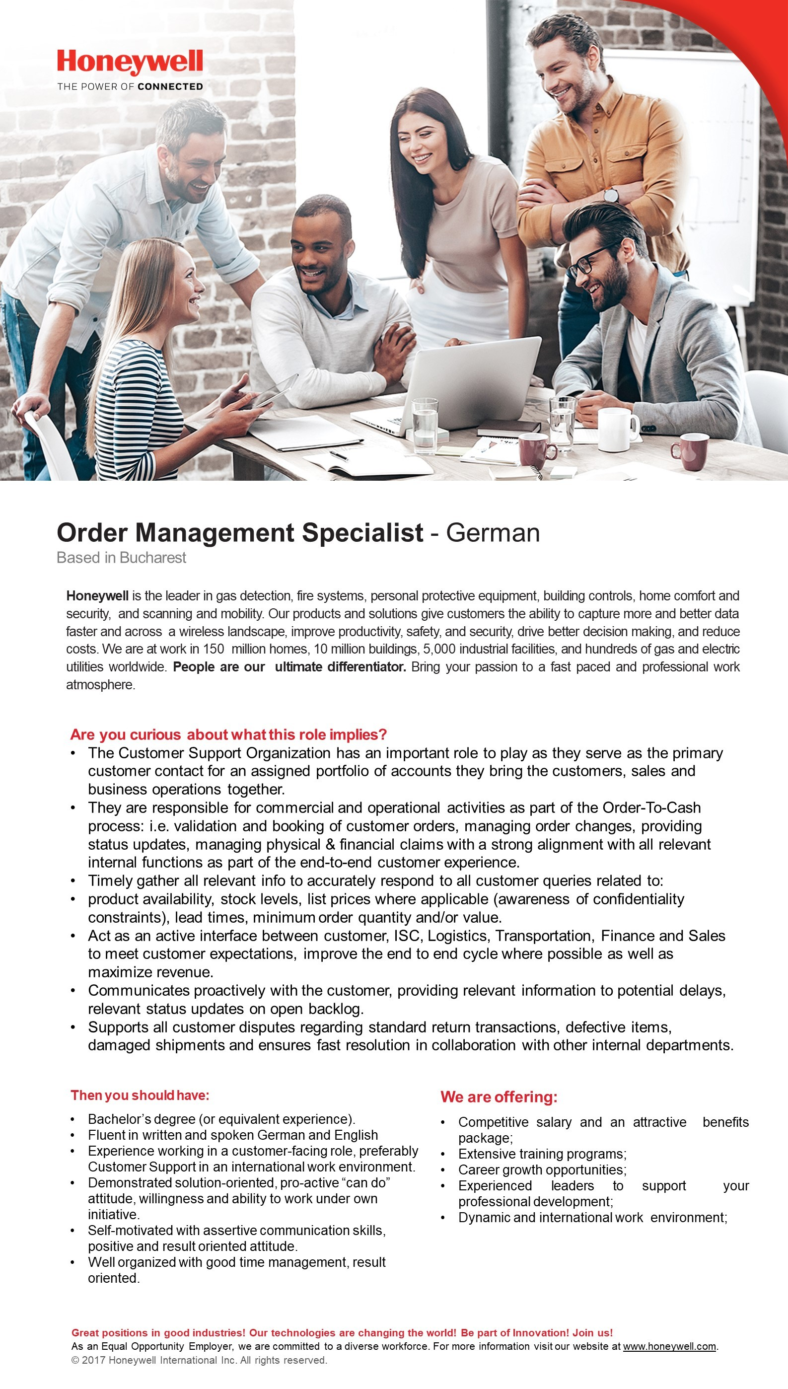Order Management Specialist with German