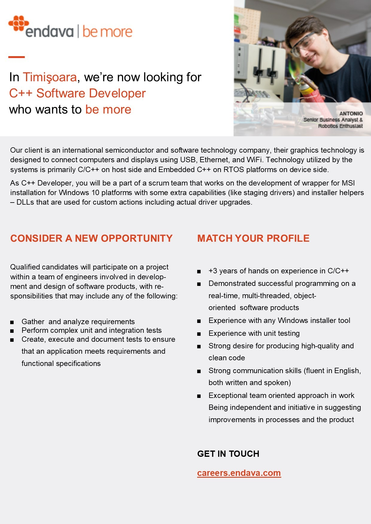JD  C++ Developer
