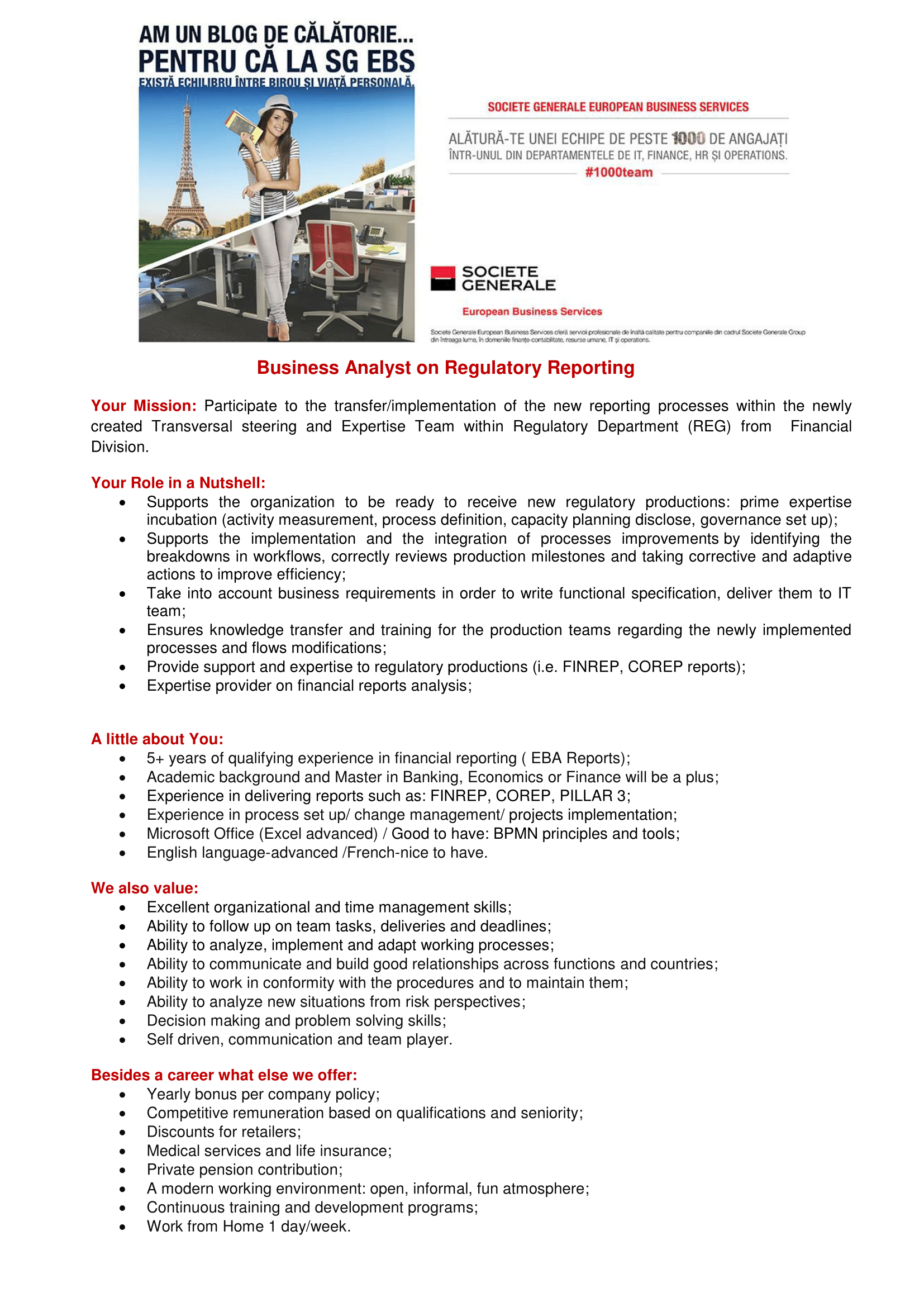 Business Analyst on Regulatory Reporting_EG EBS-1