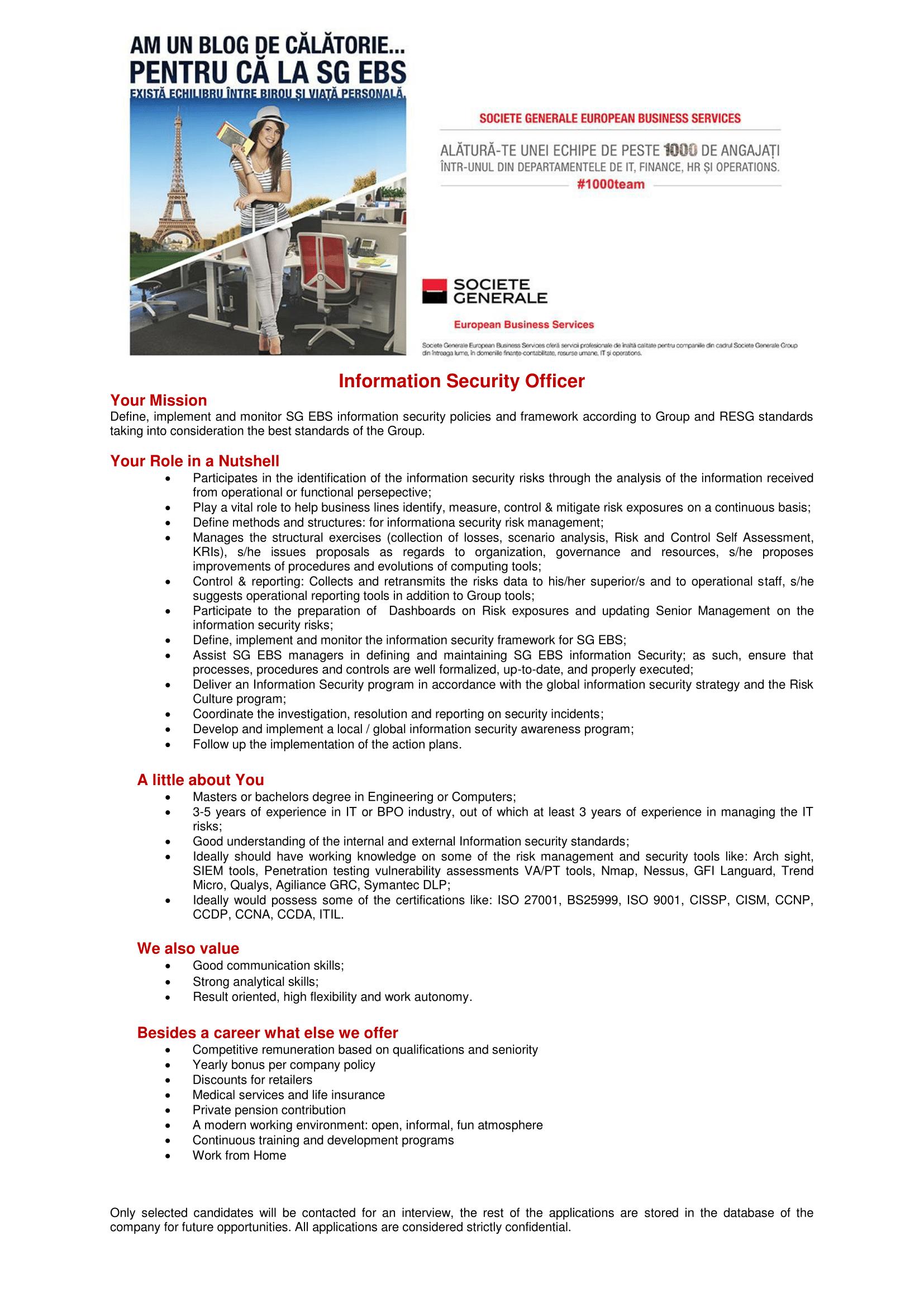 Information Security Officer Site-uri de recrutare-1