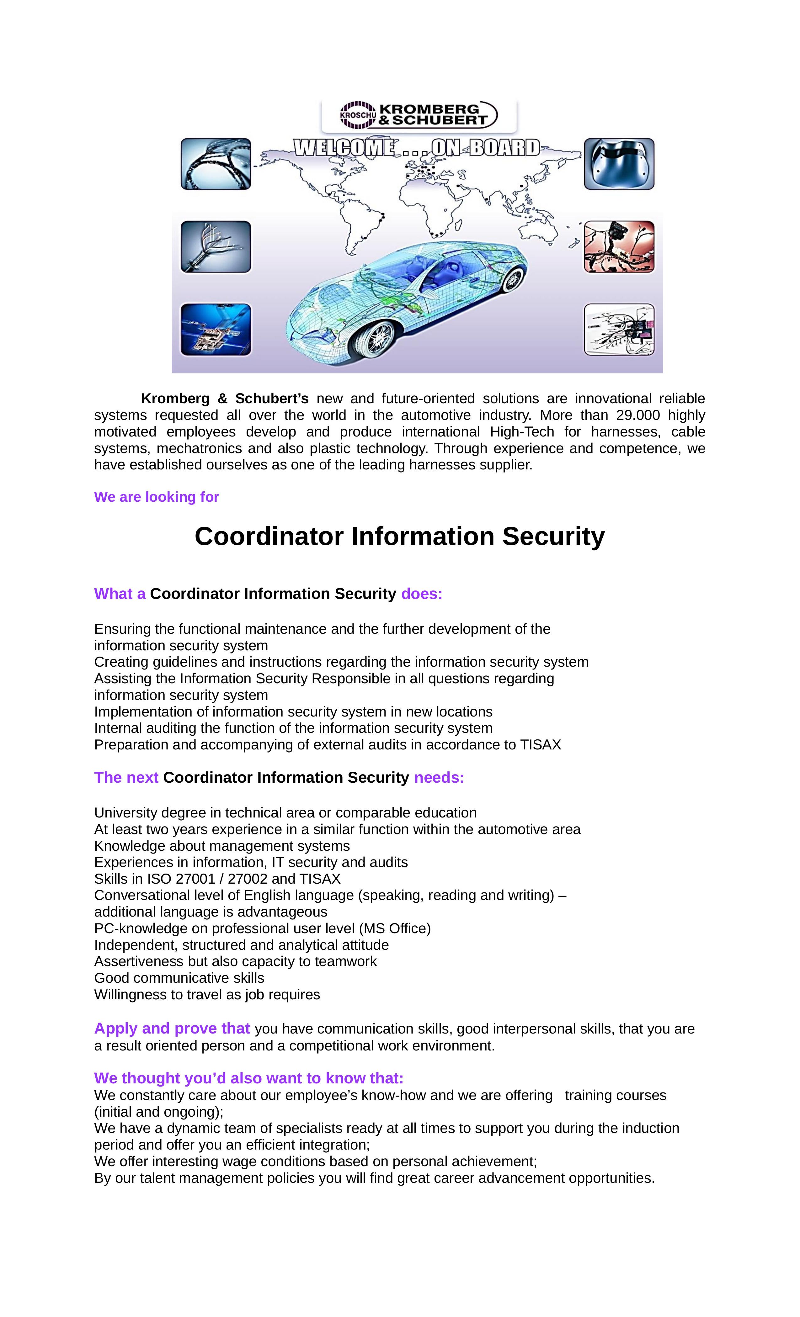 Coordinator Information Security