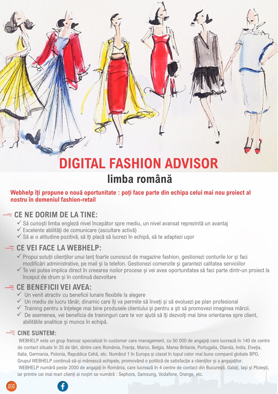 Anunt recrutare Digital Fashion Advisor RO ro