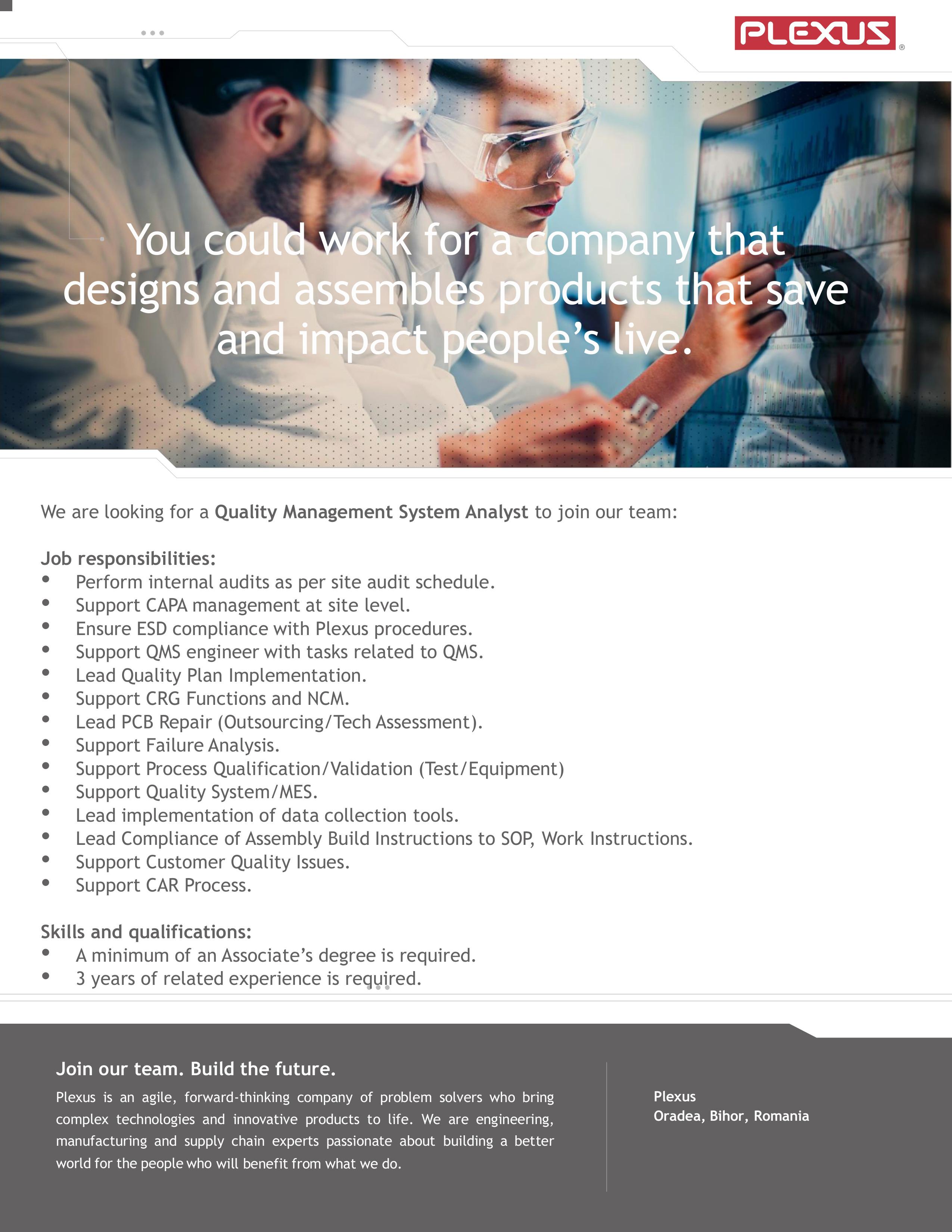 Quality Management Systen Analyst