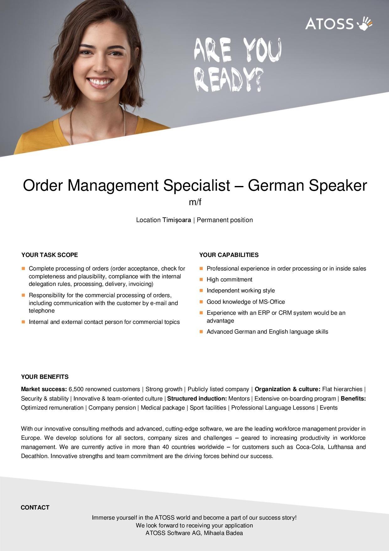 Order Management Specialist