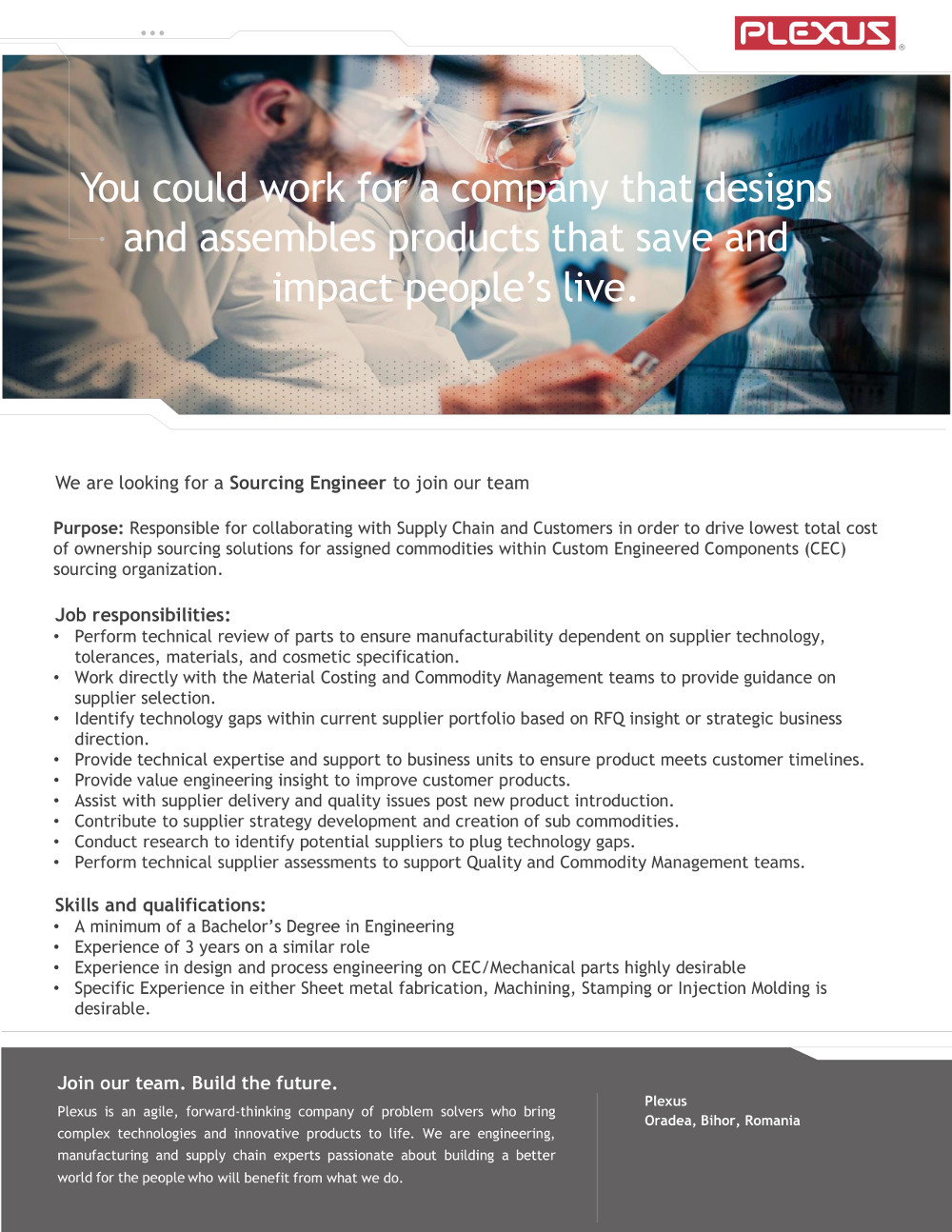 Sourcing Engineer