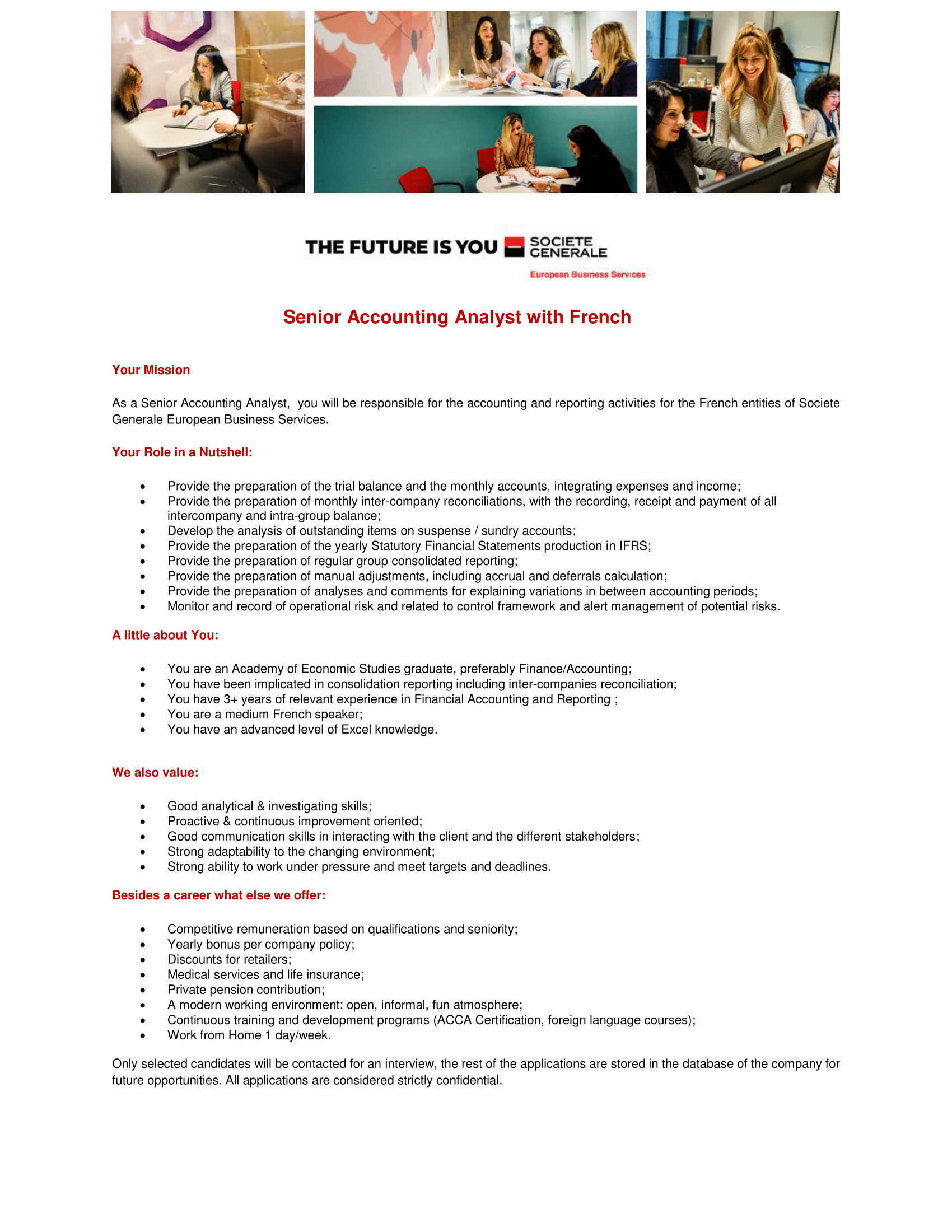 Senior Accounting Analyst with French_NOU-1