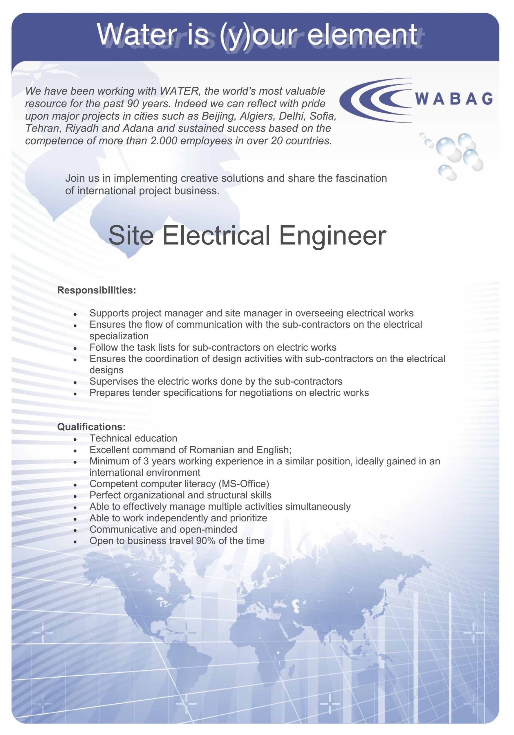 Site Electrical Engineer