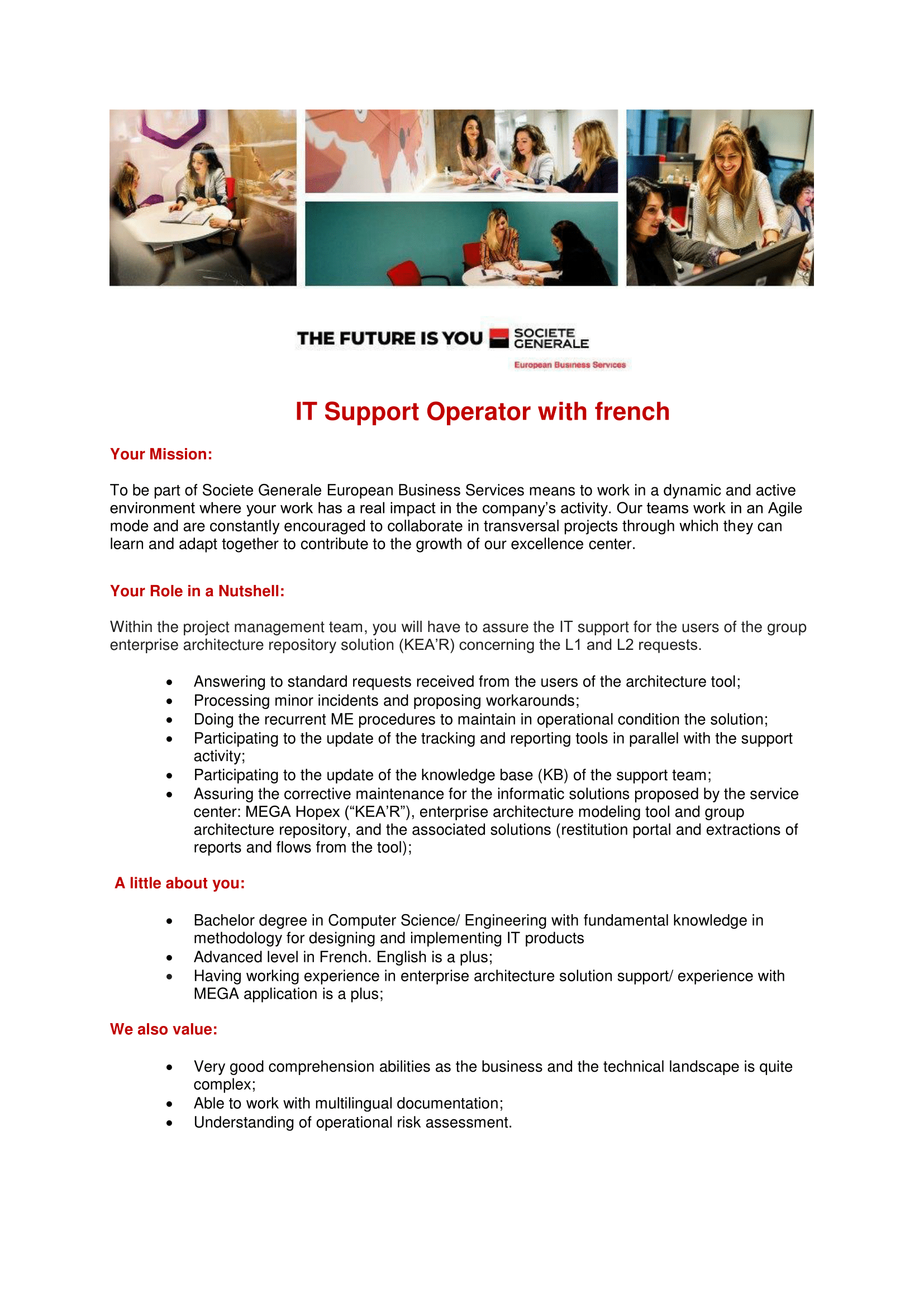 JD - IT Support Operator with french-1