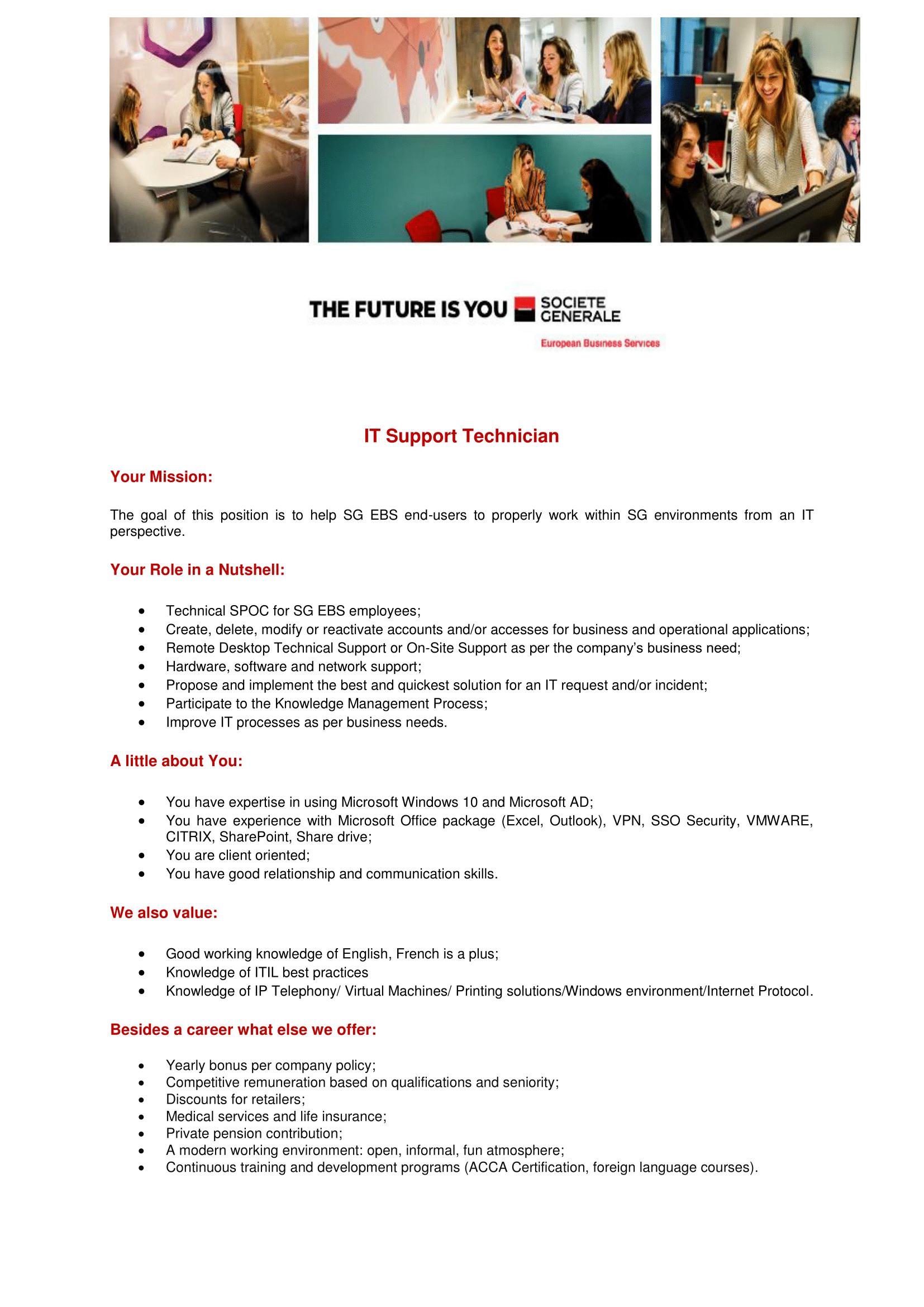 Tehnician Suport IT - Level 1-1