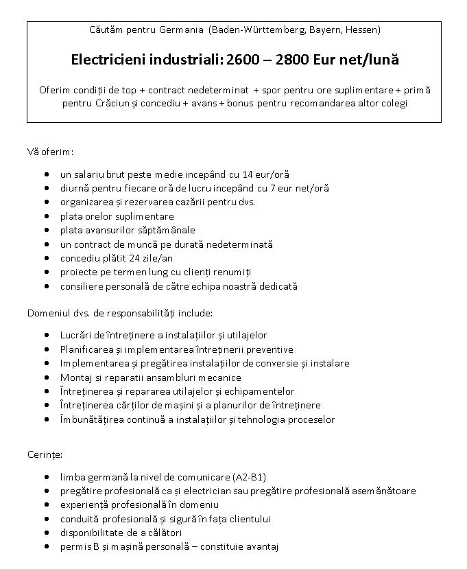 Electrician industrial neu