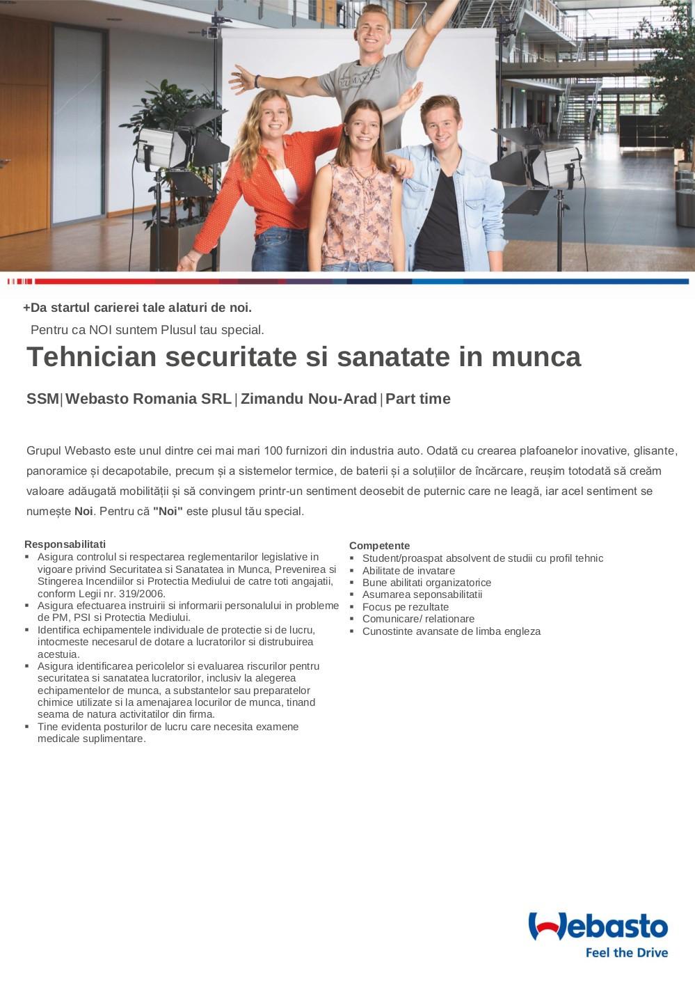 Tehnician securitate si sanatate in munca