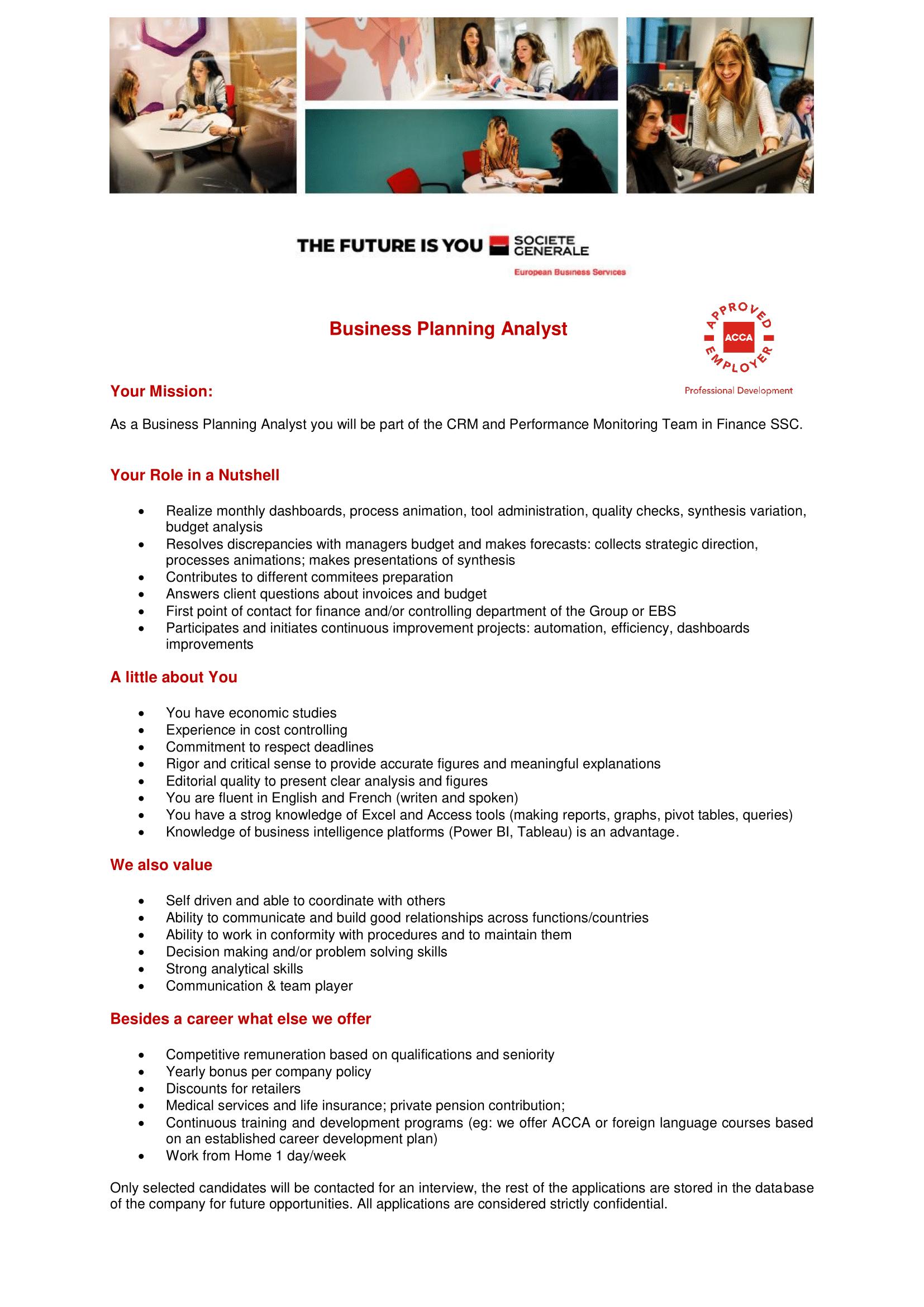 Business Planning Analyst -1