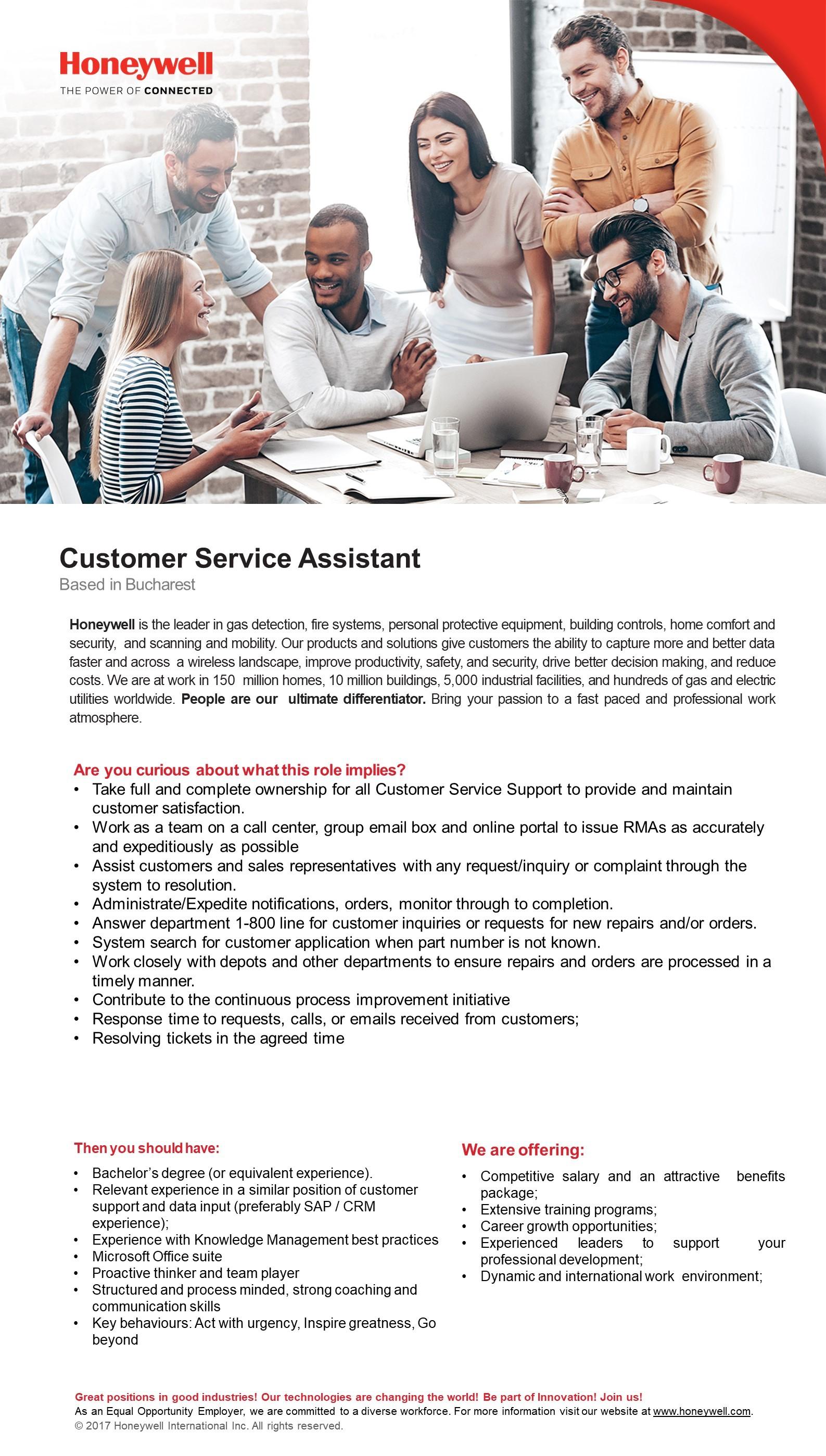 Customer Service Assistant JD