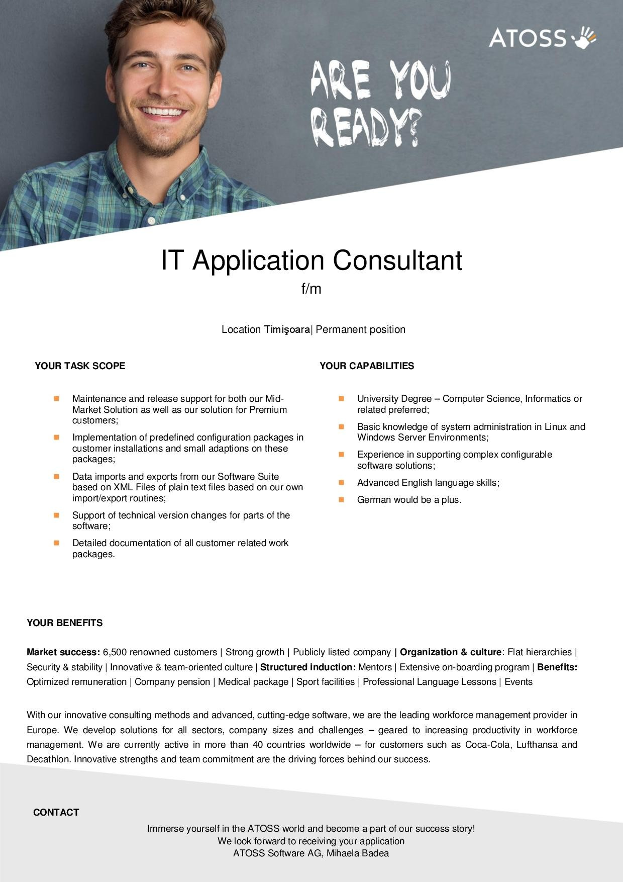 IT Application Consultant