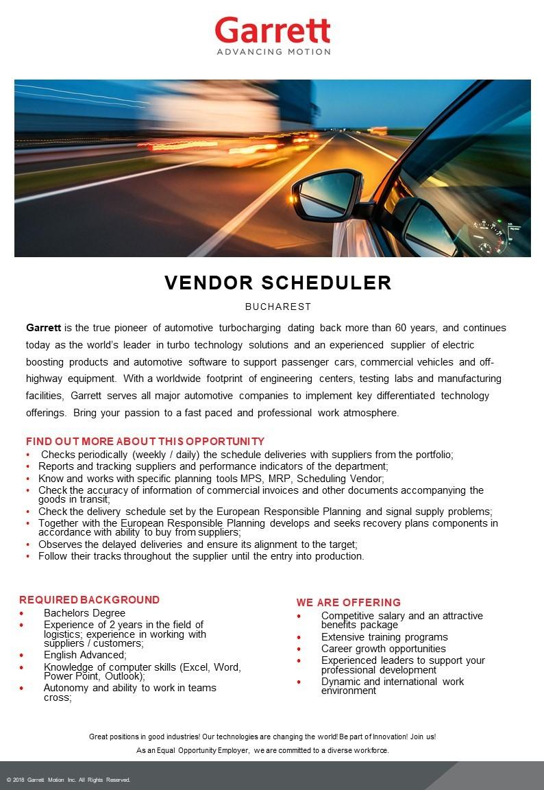 Vendor scheduler