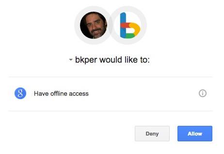 Authorize Bkper on Zapier
