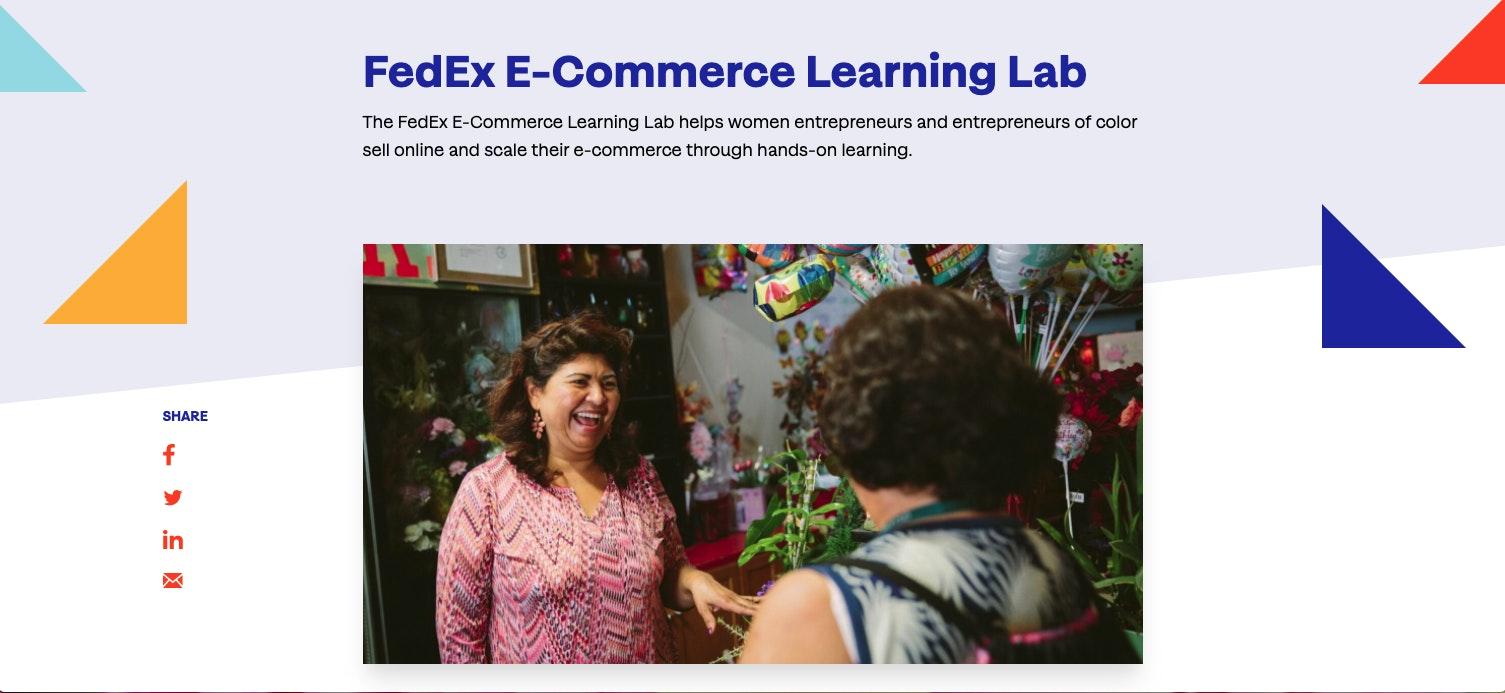FedEx E-Commerce Learning Lab Grant