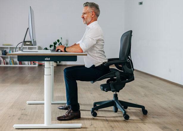 Gefahren langes Sitzen Hyperextension