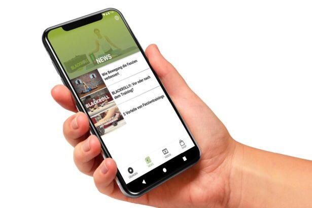 Blackroll faszientraining app screens de