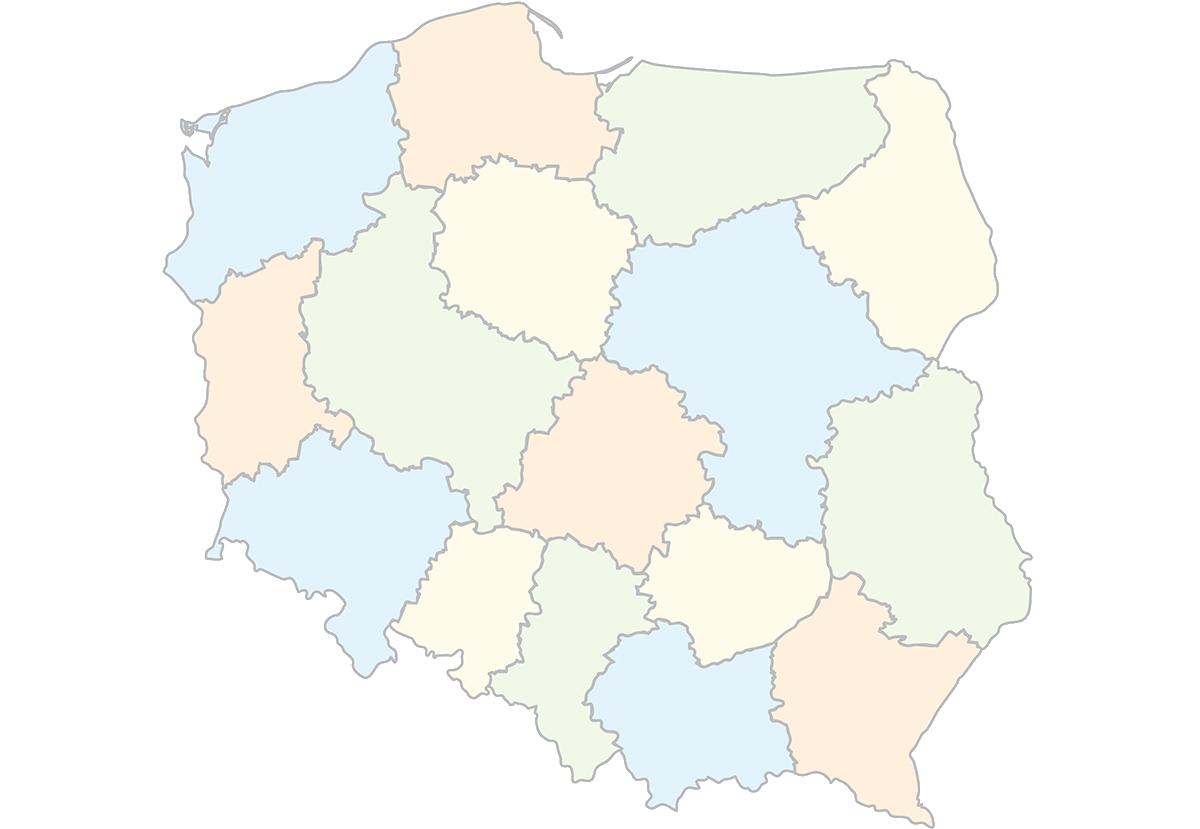 Województwa Polski oraz stolice