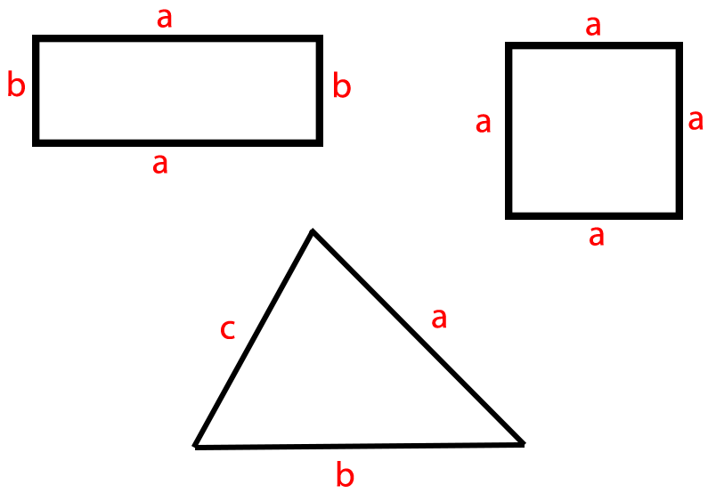 Perímetro de figuras geométricas