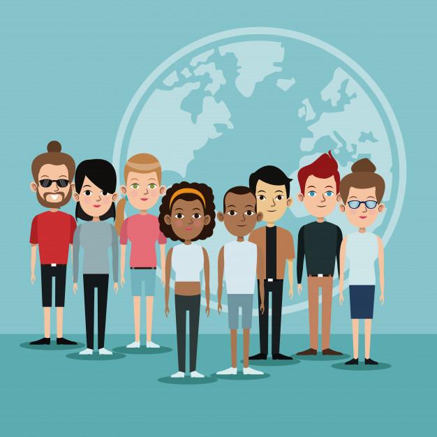 comunidade-de-linguas-mundiais-do-grupo-de-diversidade-dos-desenhos-animados18591-17856jpg