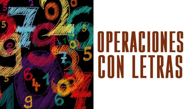 Operaciones con Letras