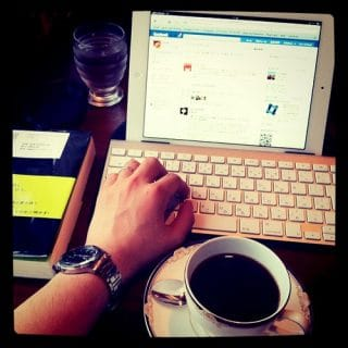 iPad2、本、珈琲、喫茶店