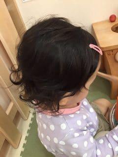 髪の毛くるりん娘