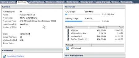 VMware ESXiをHDDブートでHP ProLiant ML115 G5にインストールした時の備忘録。