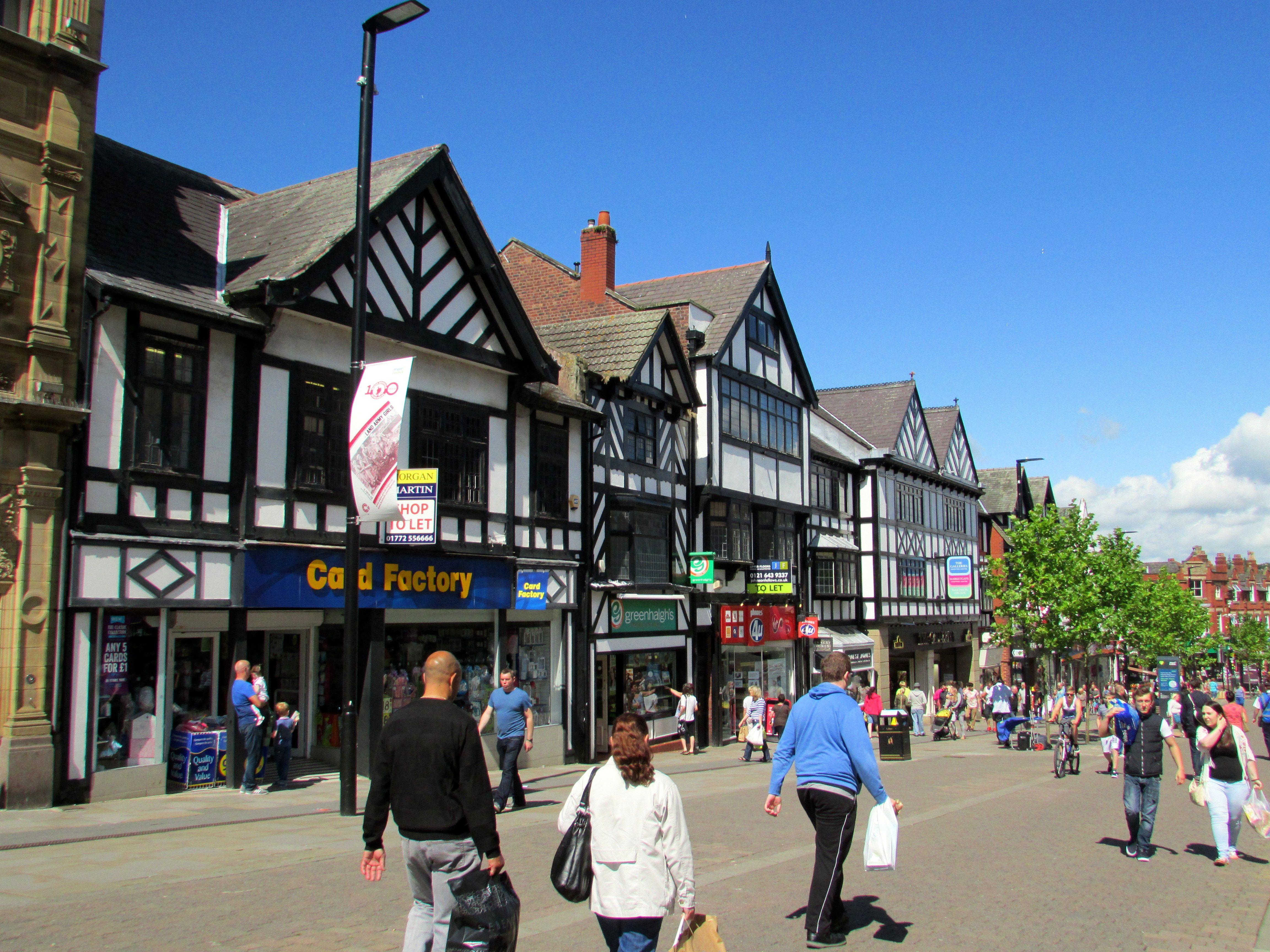 A busy pedestrian street