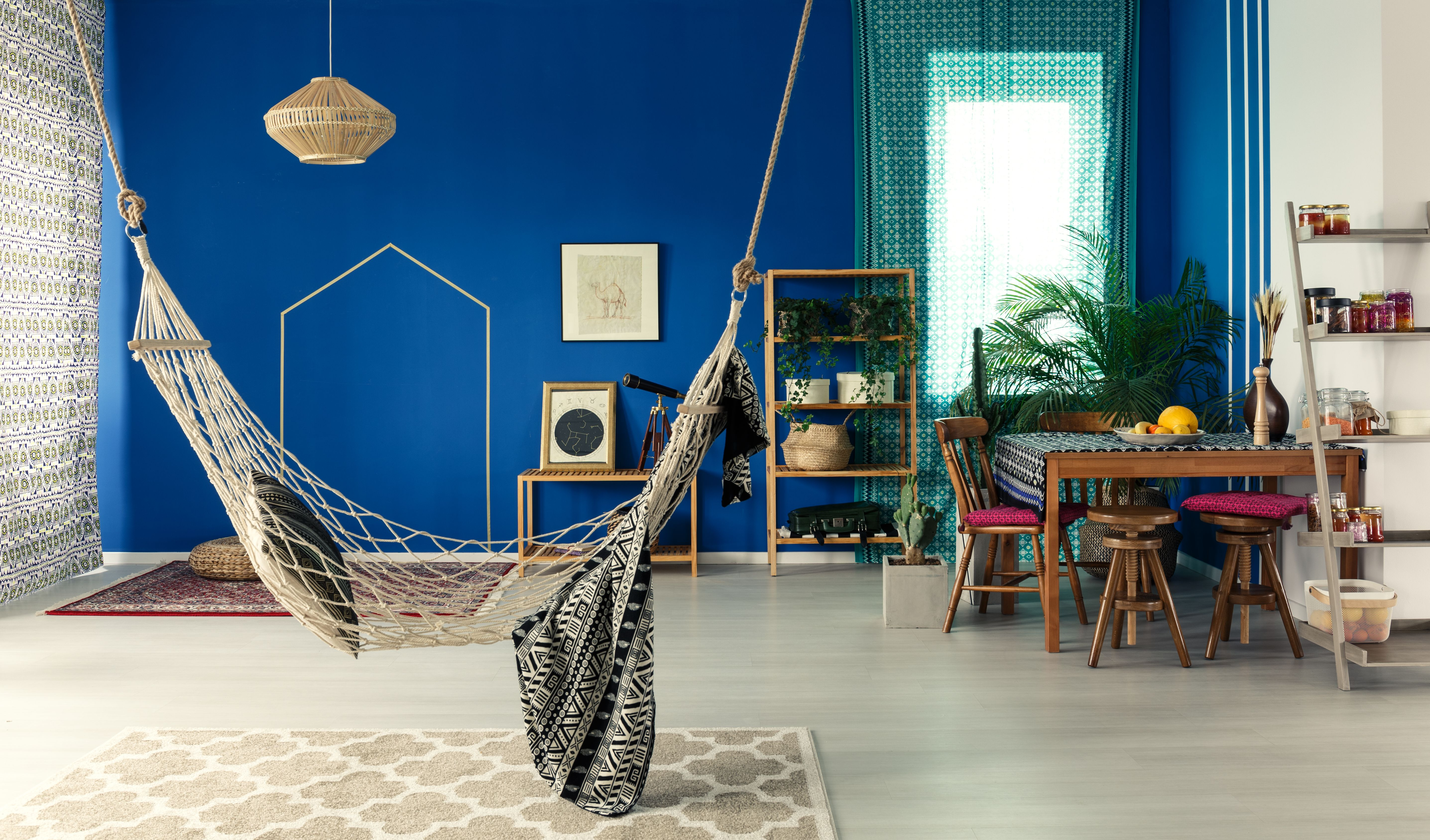 bohemian apartment with hammock.jpg