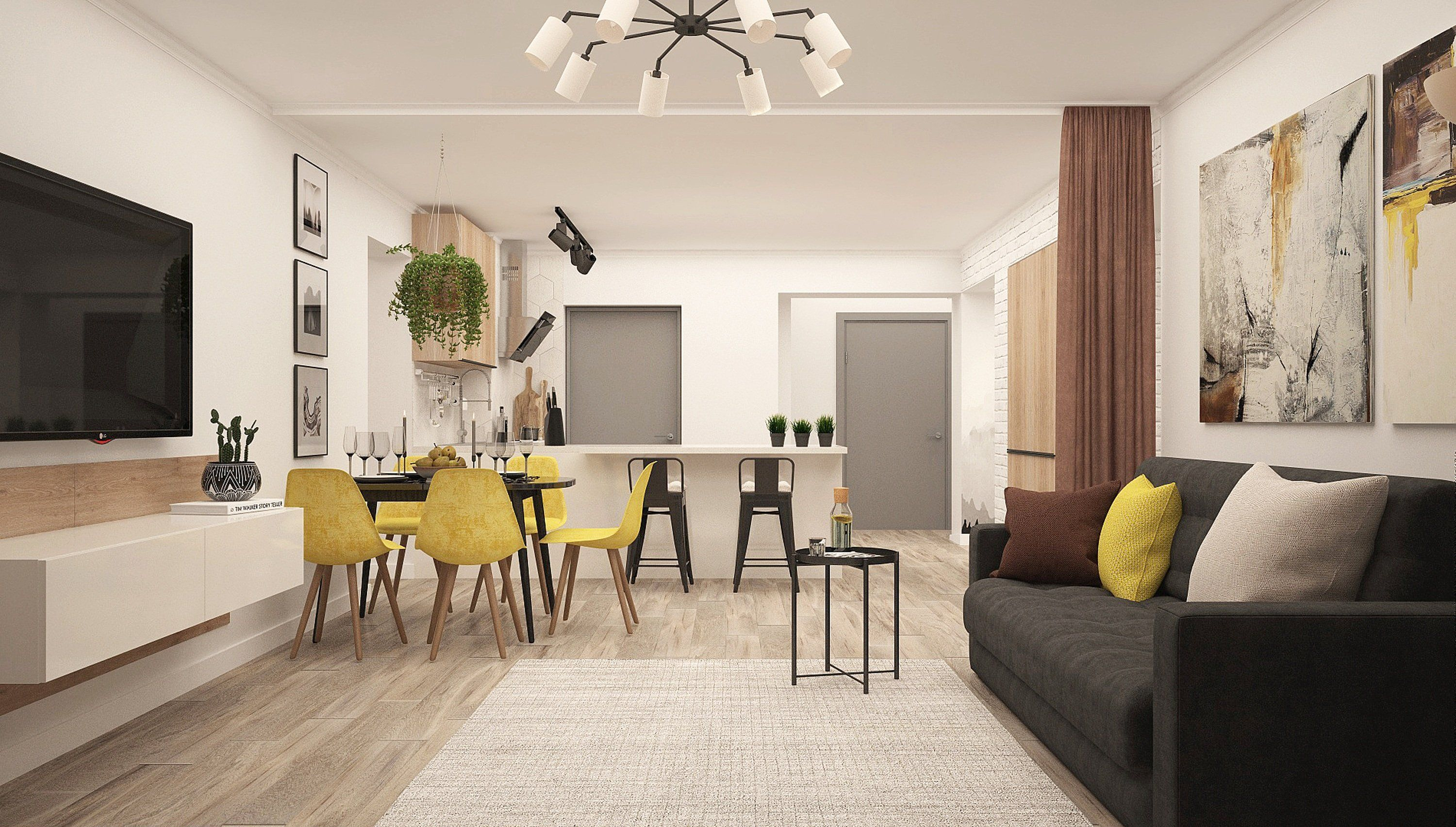 The common area at OKR, a Build To Rent development in South East London.