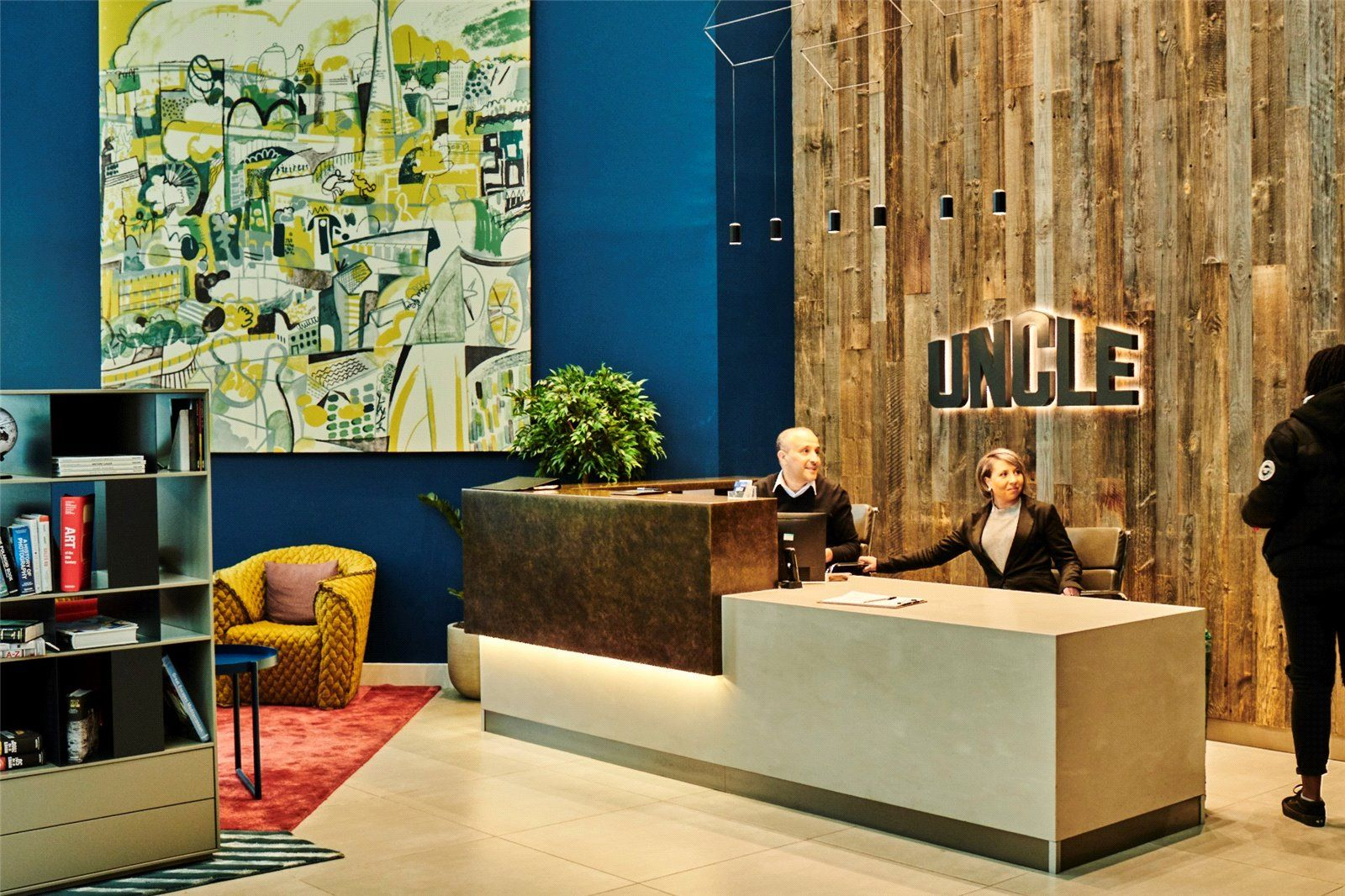 The common area at UNCLE Elephant & Castle, a Build To Rent development in South East London.
