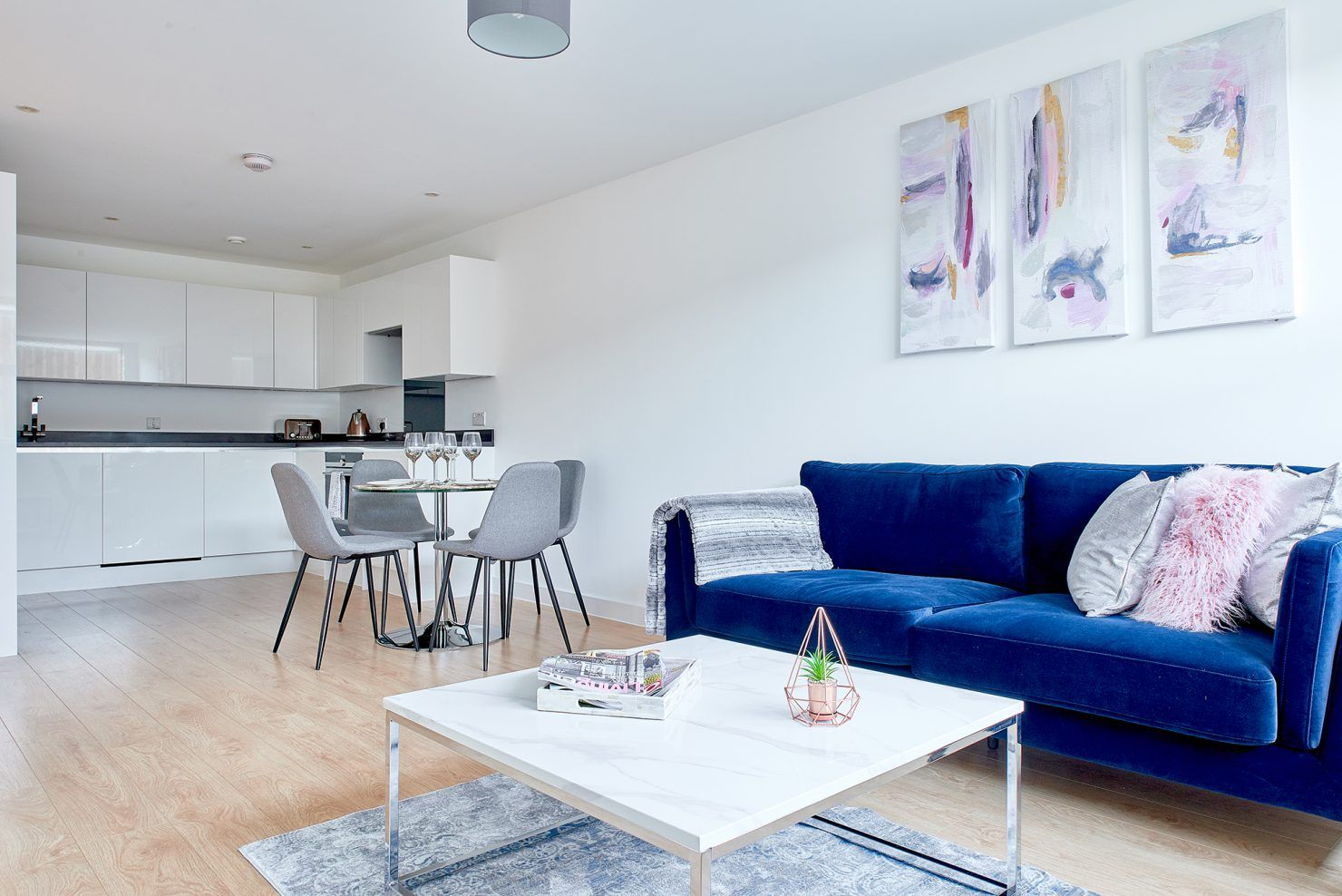 The common area at Vida House, a Build To Rent development in South East London.