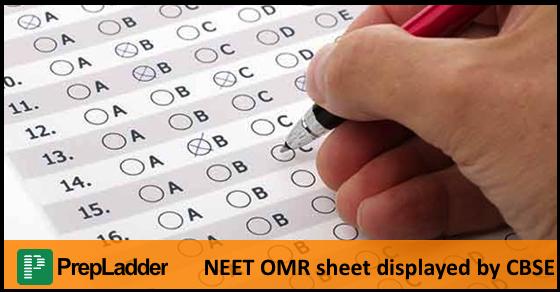 CBSE releases NEET OMR sheet