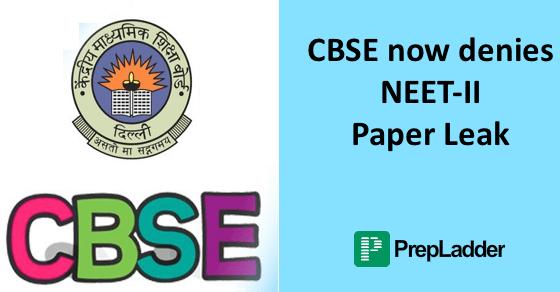 CBSE denies NEET - II paper leak