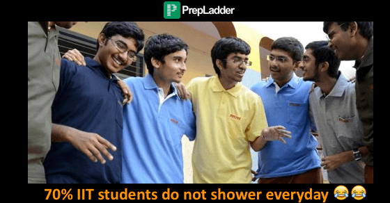 70% IIT students do not shower everyday, 60% do not believe in God