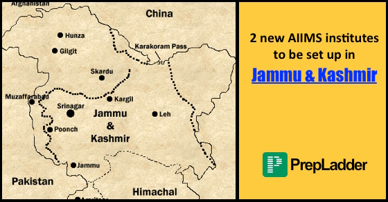 2 new AIIMS to be set up in J&K