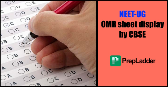 NEET-UG OMR sheet display by CBSE