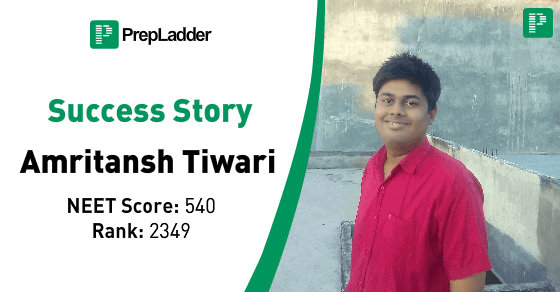 PrepLadder Success Story : Amritansh Tiwari