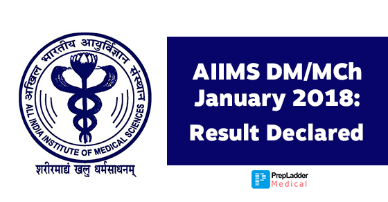 AIIMS DM/MCh January 2018 session: Result Declared