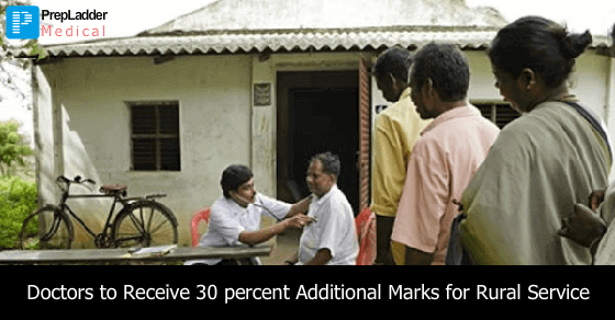 Doctors to Receive 30 percent Additional Marks for Rural Service