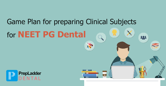 The Game Plan for preparing the Clinical Subjects for AIPGDEE/NEET PG Dental/MDS