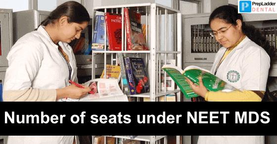 Number of Seats under NEET MDS