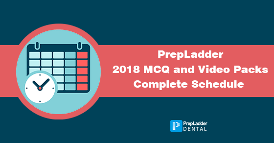 PrepLadder 2018 MDS Packages: Complete Schedule
