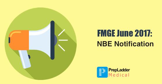 FMGE June 2017 - NBE Notification