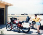 The bike I was going to ride on the Alaskan Highway.....until Crazy changed our plans