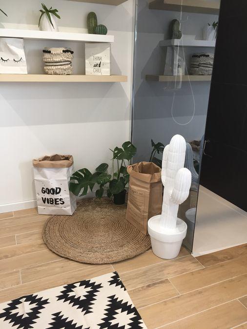 décoration sdb avec plantes