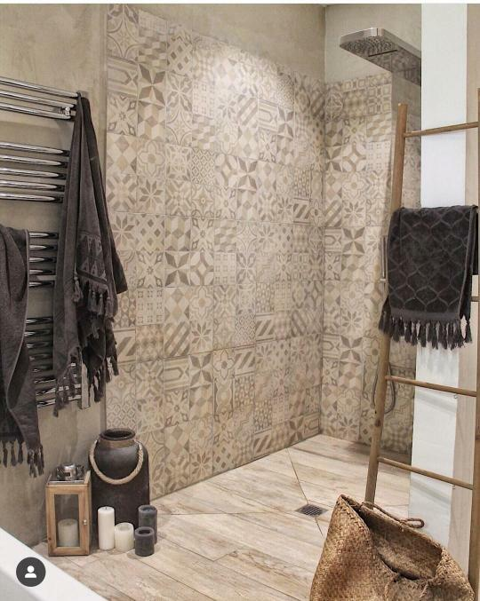 Carreaux de ciment dans la salle de bain : 20 idées inspirantes ...